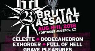 Brutal Assault 23 - new bands: Grave Pleasures! Nocturnus! Unleashed!